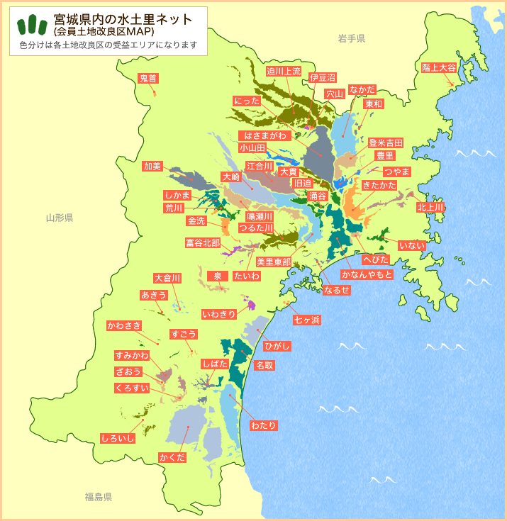 宮城県内の土地改良区