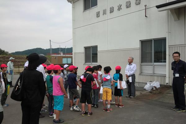 平成27年度 小学校児童による南川ダム、西川排水機場施設見学会が開催されました